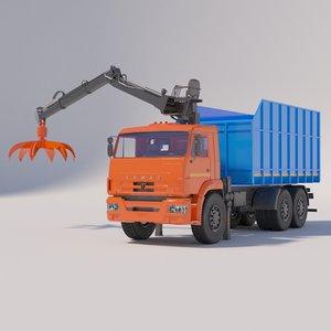 kamaz metal carrier manipulator model