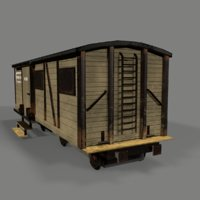 3D wagon old western