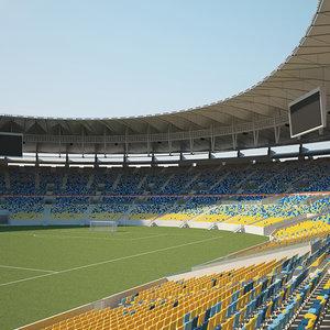 stadium maracana maracan 3D model