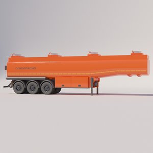 petrol semi-trailer 3D model