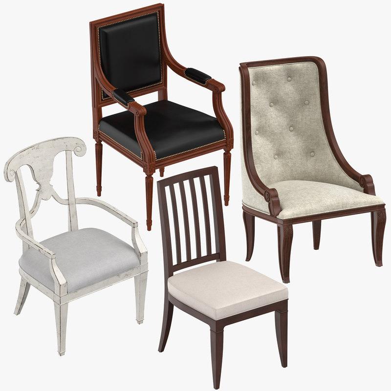 classical chair 3d turbosquid 1304674