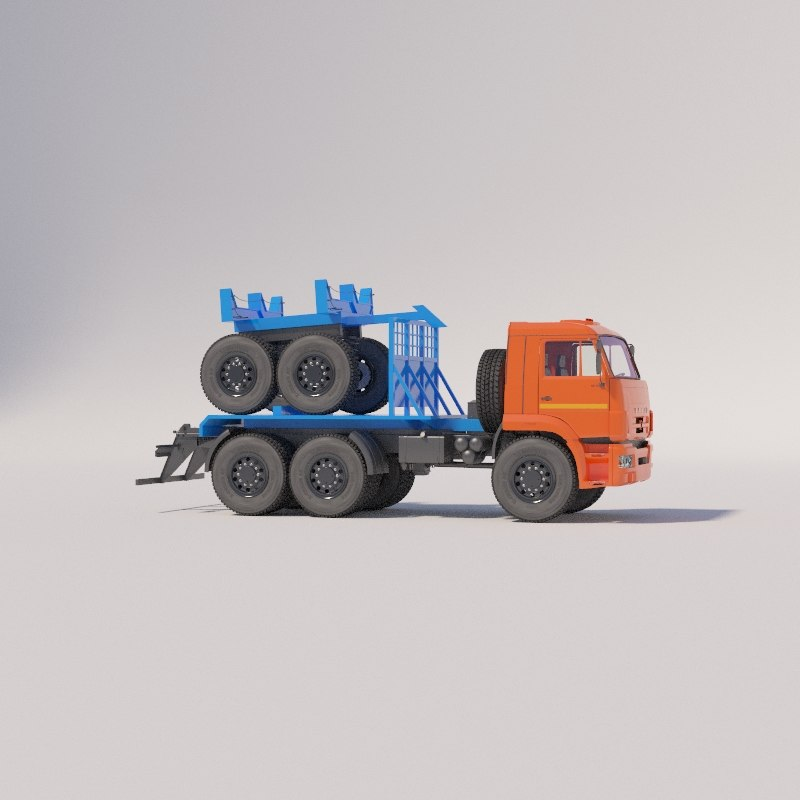 3D pipe pipe-line vehicles chassis model