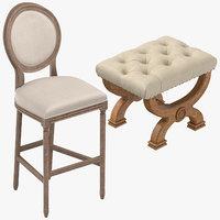 3D classical stools