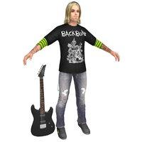 3D model guitar player
