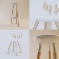 Seating decorative Chairs and Stools set