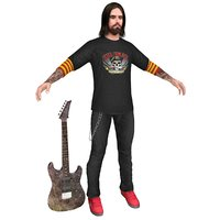 3D guitar player