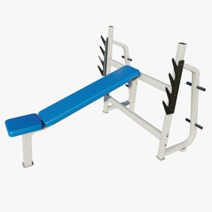 3D gym incline bench press