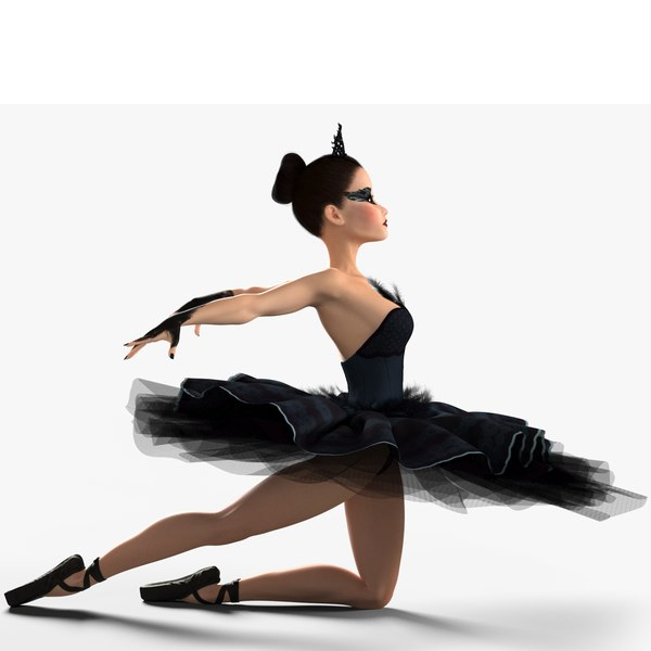 ballerina black swan rig model