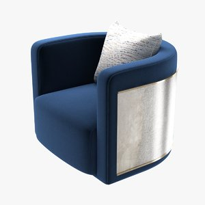 3D promemoria pervinca swivel armchair