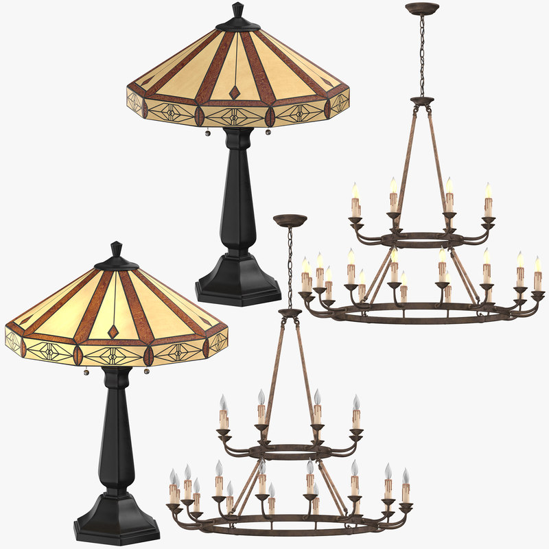 3D classical lights model