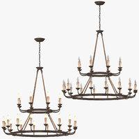 classical ceiling light 3D