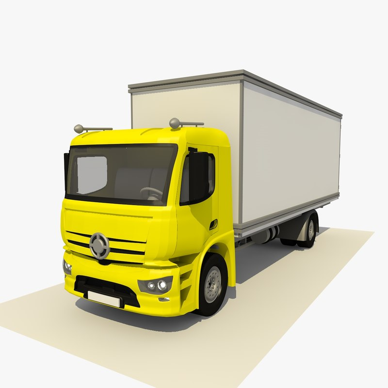3D generic 2 yellow lorry