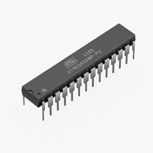 atmel atmega328 3D model