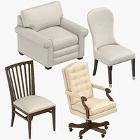 3D traditional chairs