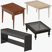 traditional tables 3D
