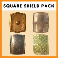 3D square shields pack