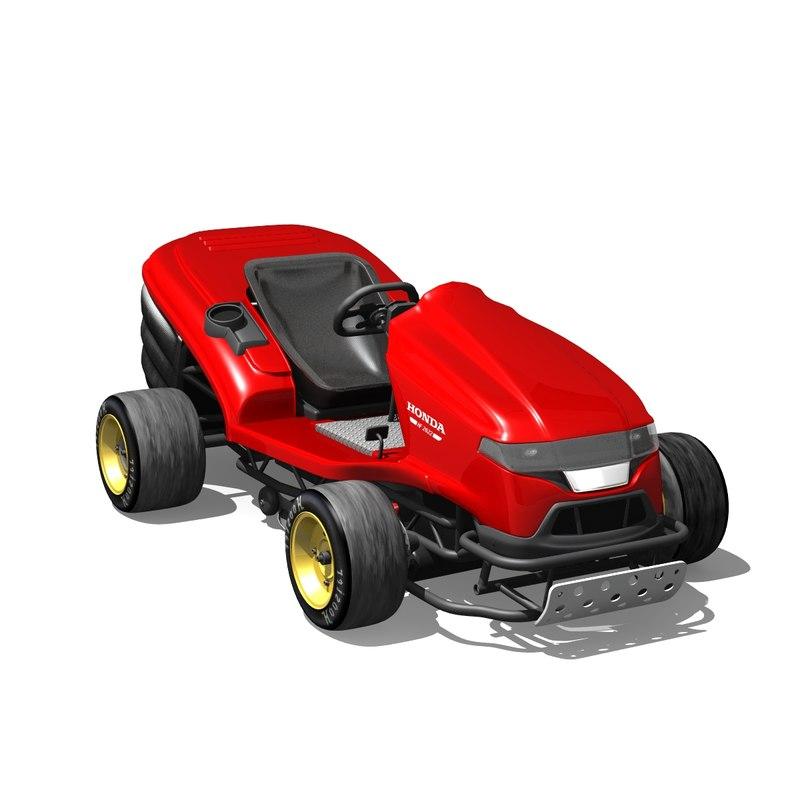 3D mean mower model