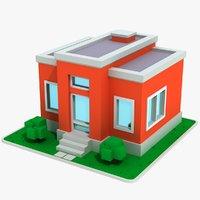 3D cartoon house 3 model