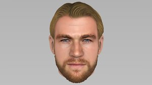 3D model head thor chris hemsworth