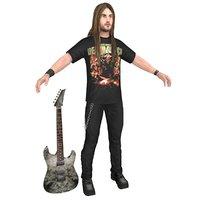 guitar player 3D