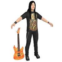 guitar player model
