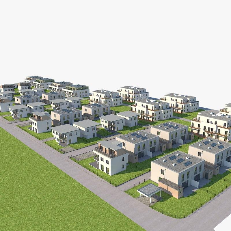3D residental area