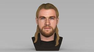 3D model thor chris hemsworth bust