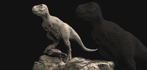 3D tyrannosaurus rex sculpt