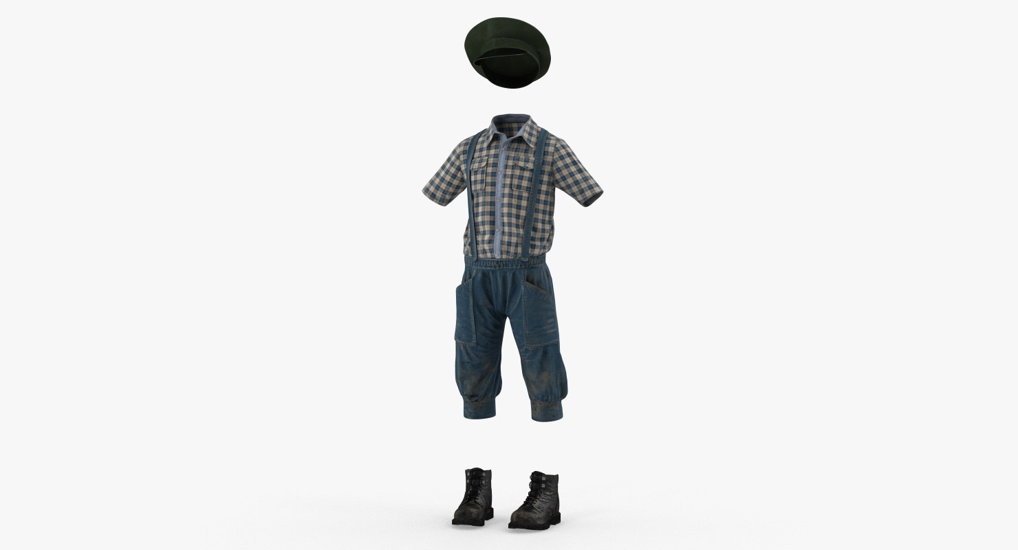 3D vintage boy clothes