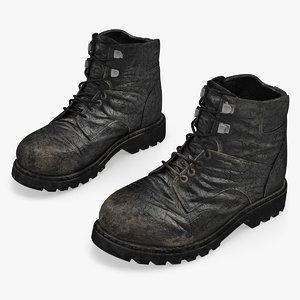 vintage boots 3D