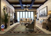 living room corona 3D model