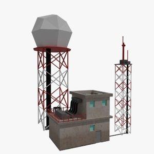 airport doppler radar 3D