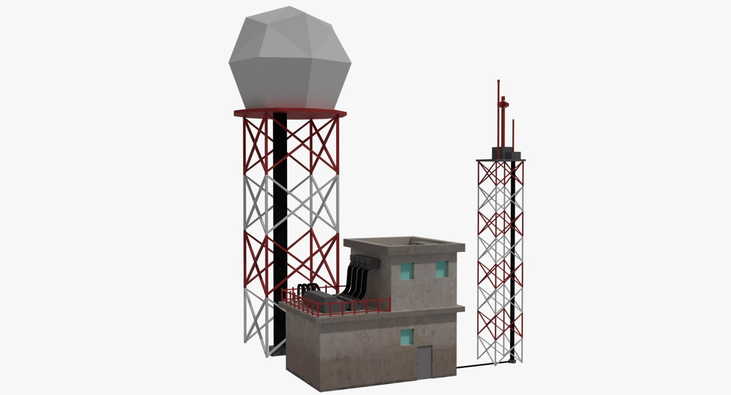 airport doppler radar 3D