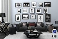 Living Room 06 C4D Vray