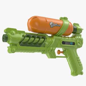 splatoon water gun 3D model