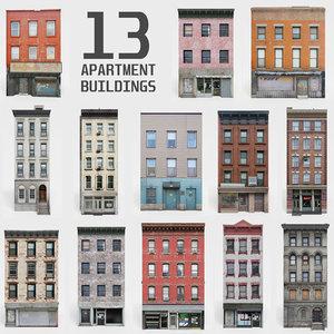 3D 13 apartment buildings