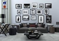 3D living room corona model
