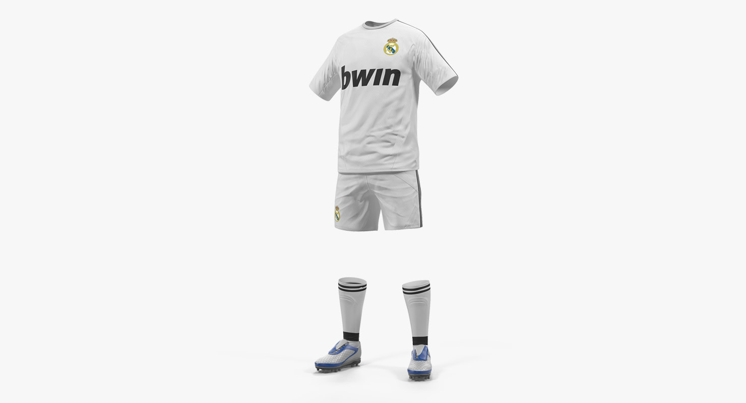 3D soccer uniform real madrid