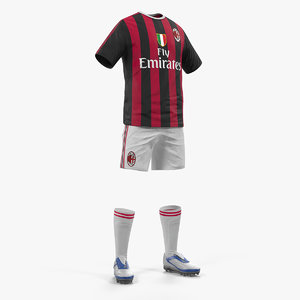 soccer uniform milan 3D model