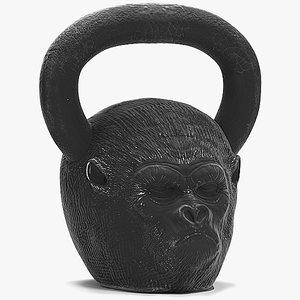 gorilla kettlebell 3D