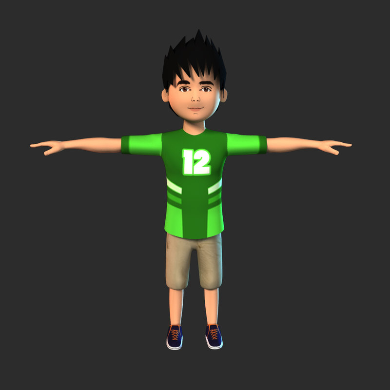 3D boy character