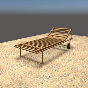 deckchair deck 3D model