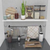 decorative kitchen set 3D model