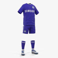 3D model soccer uniform chelsea