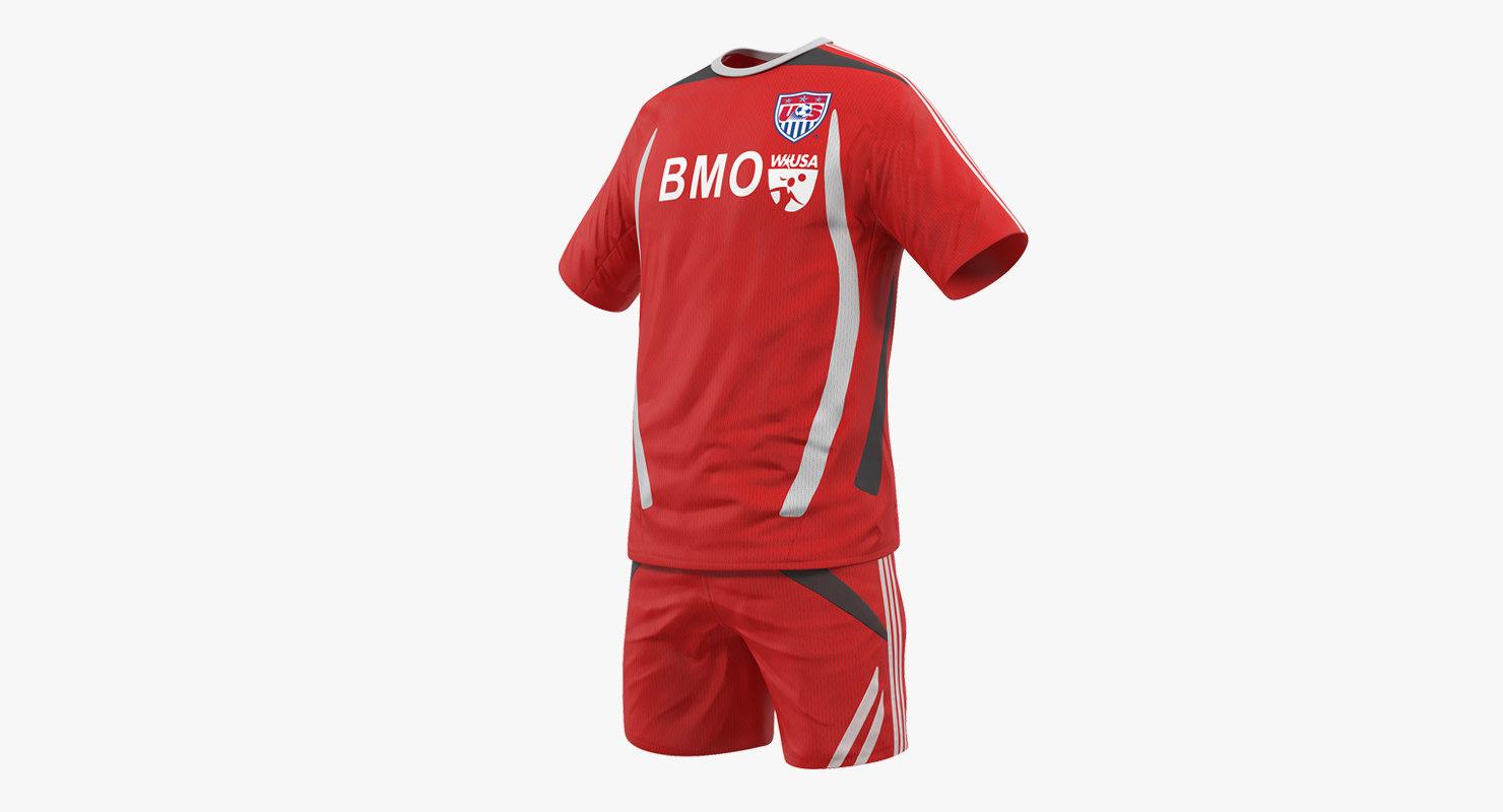 soccer uniform 2 3D