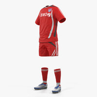 soccer uniform 3D model