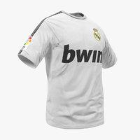 soccer t-shirt real madrid 3D model