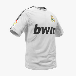 soccer t-shirt real madrid 3D model