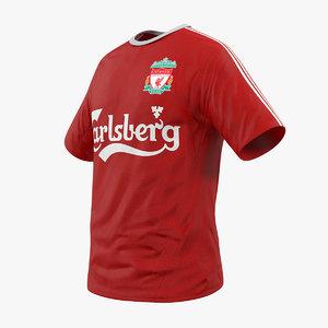 3D soccer t-shirt liverpool 2