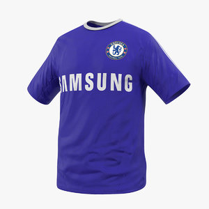 soccer t-shirt chelsea 2 3D model